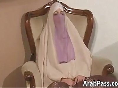 Arab In A Hijab Sucking Cock And Fucking
