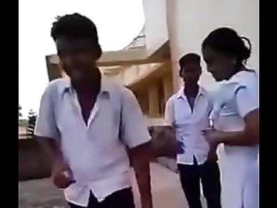 Indian School Girl And Boys Doing Masti In The Classroom