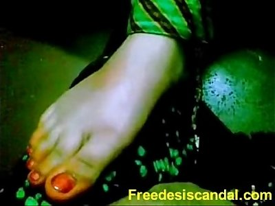 Super-steamy Footjob By Desi Lady