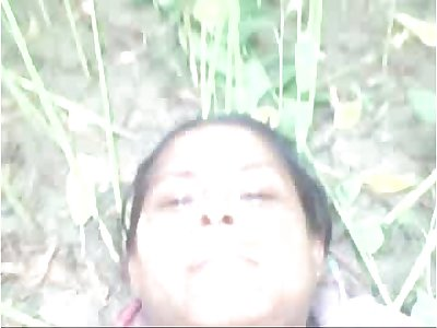 Desi village aunty fucked outdoor with young paramour