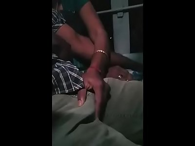 Tamil youthfull married couple grouped encoxada and hand-job in bus while travelling for honeymoon