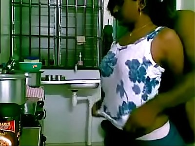 See maid humped by chief in the kitchen