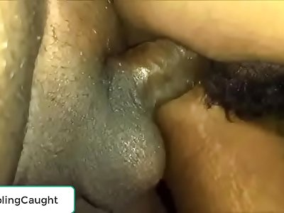 Boy cumming in Desi girlfriend slit