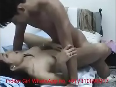 Indian Desi Couple First Time Hump in Room Bed